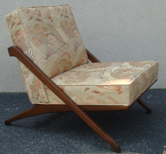 Mid Century Modern Fan Fabric Chair  ($360)